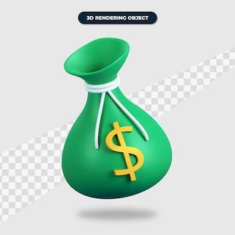 ドル記号の3dレンダリング予算アイコン