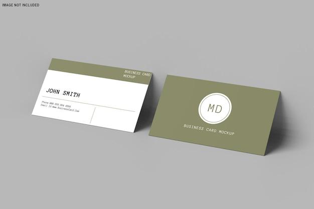 3d rendering of business card mockup design