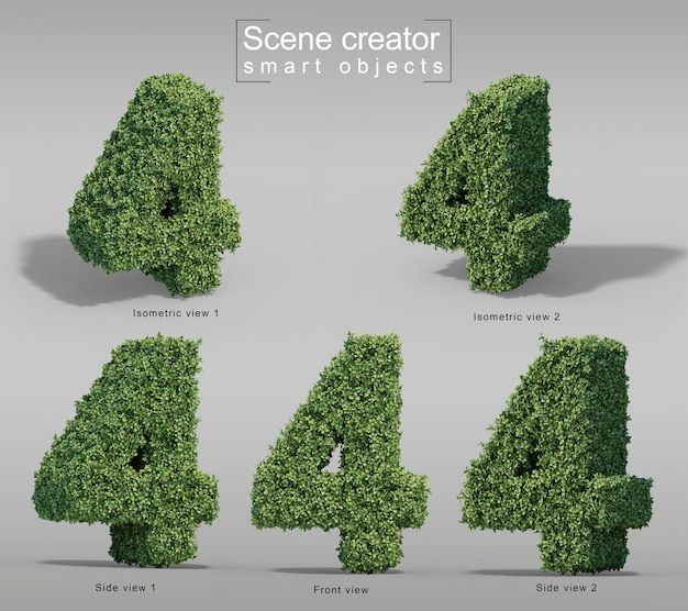 3d rendering of buxus number 4