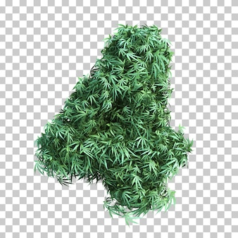 3d rendering of cannabis number 4
