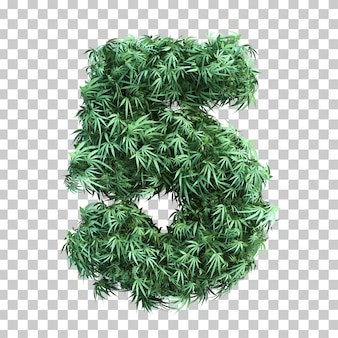 3d rendering of cannabis number 5