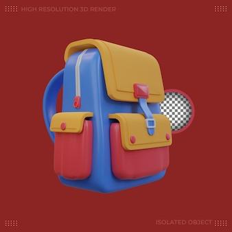 3d rendering  cartoon bag illustration