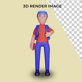 3d rendering of characters with the concept of back to school