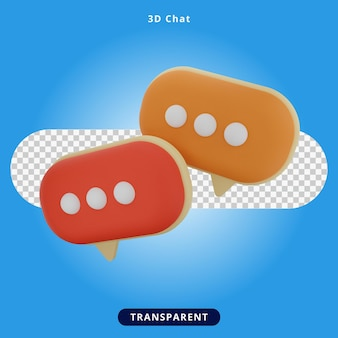 3d rendering chat and support illustration