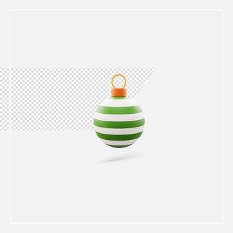 3d рендеринг елочный шар изолированные