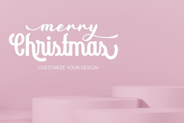 3d rendering of christmas empty mockup