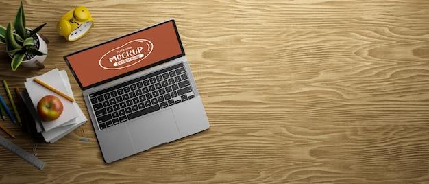 3d rendering of computer laptop mockup