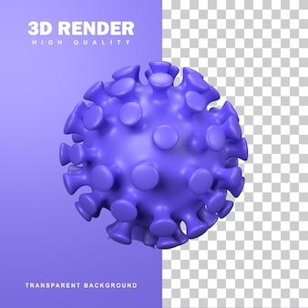 3dレンダリングコロナウイルス細胞のパンデミック。