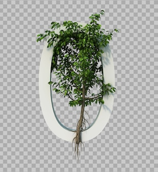 3d rendering of creeping tree on number 0