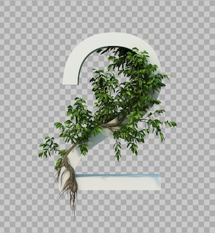 3d rendering of creeping tree on number 2