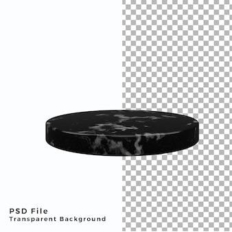 3d-рендеринг темного мраморного подиума, подставка для постамента, продукция высокого качества