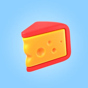 3d rendering of delicious cheese