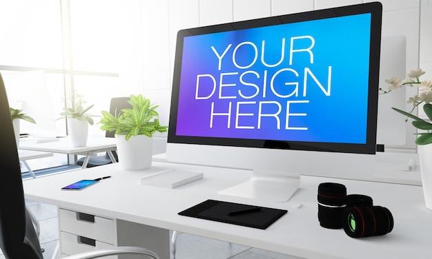 3d rendering of digital photography studio