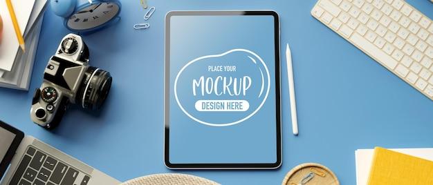 3d rendering of digital tablet mockup screen