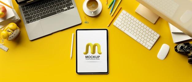3d rendering of digital tablet mockup