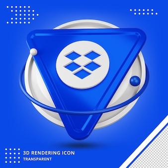 3d 렌더링 dropbox 로고 응용 프로그램