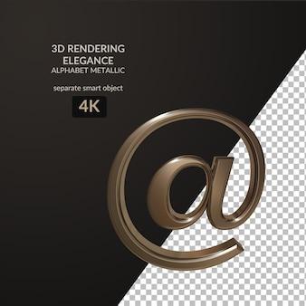 3d рендеринг элегантность металлический алфавит скрипт
