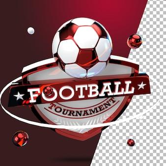 3dレンダリングエンブレムサッカーサッカートーナメント