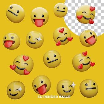 3d 렌더링 emoji expresions 절연