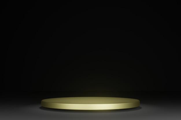 3d 렌더링 빈 연단 모형