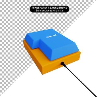 Кнопка ввода 3d-рендеринга