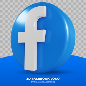 3d rendering of facebook logo isolated
