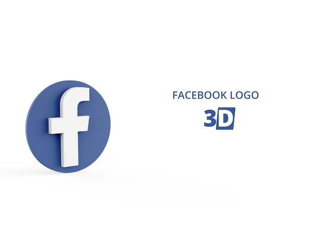 3d rendering of facebook logo