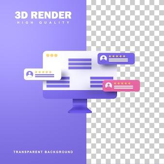 Концепция обратной связи 3d-рендеринга от starring the shop.