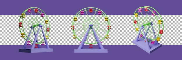 Значок колеса обозрения 3d рендеринга