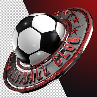 3dレンダリングサッカーサッカーエンブレムグラフィック