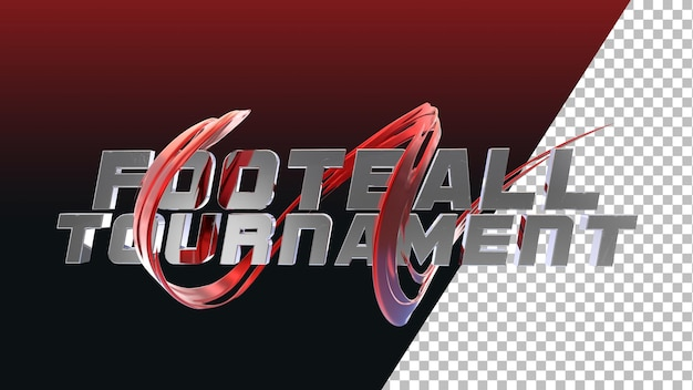 3dレンダリングサッカーサッカートーナメントのタイポグラフィ