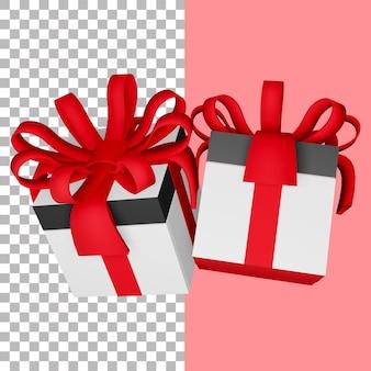 3d 렌더링 선물 상자 절연