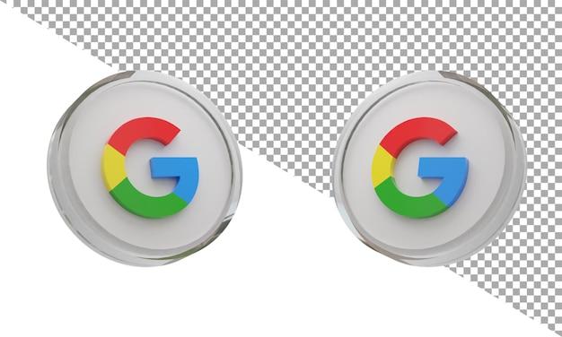 3d 렌더링 유리 아이콘 로고 구글 아이소메트릭