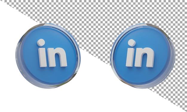 아이소메트릭에 연결된 3d 렌더링 유리 아이콘 로고