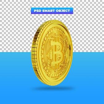 3dレンダリングゴールデンビットコインデジタル通貨