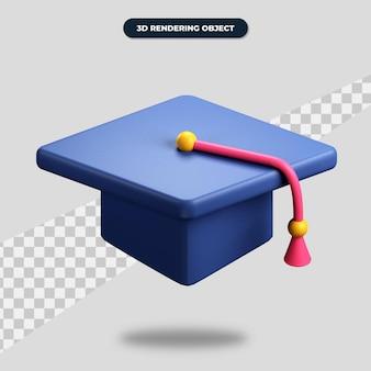 3d 렌더링 졸업 아이콘, 각모 그림