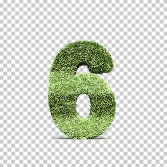 3d rendering of grass playing field number 6