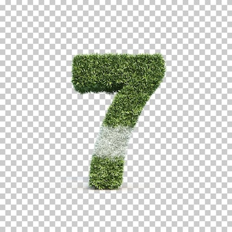 3d rendering of grass playing field number 7