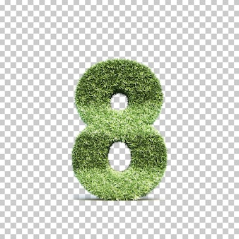 3d rendering of grass playing field number 8