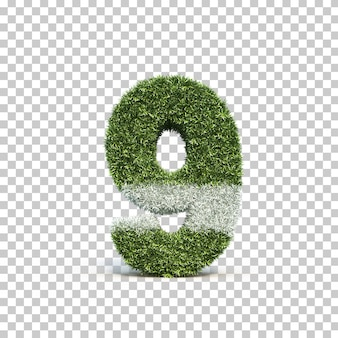 3d rendering of grass playing field number 9