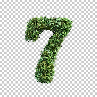 3d rendering of green plants number 7