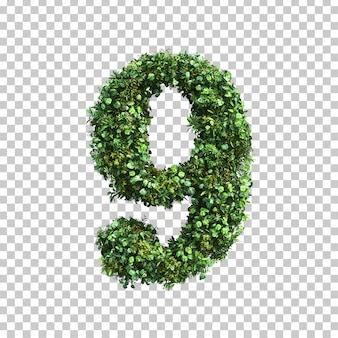 3d rendering of green plants number 9