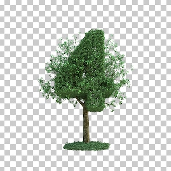 3d rendering of green tree number 4