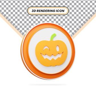 3d визуализация хэллоуин ужас тыква значок