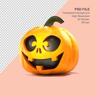 3d rendering halloween pumpkin psd file