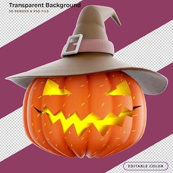 3d rendering halloween pumpkin