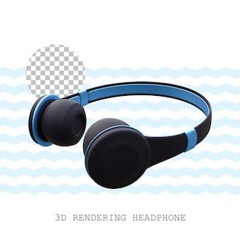 3dレンダリングヘッドフォン
