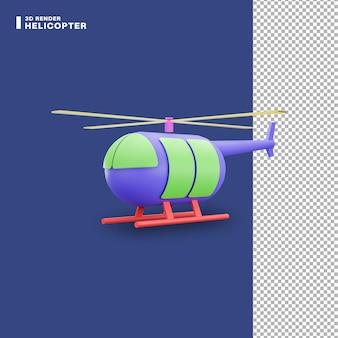 3dレンダリングヘリコプターアイコン