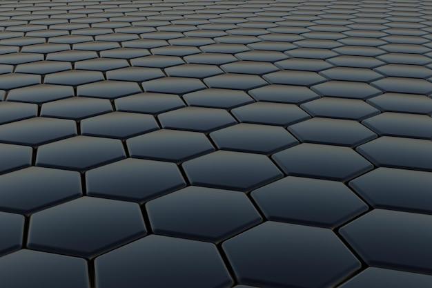 3d-рендеринг гексагонального фона