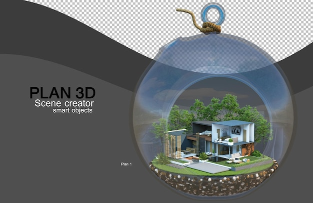 3d rendering of house and building layouts